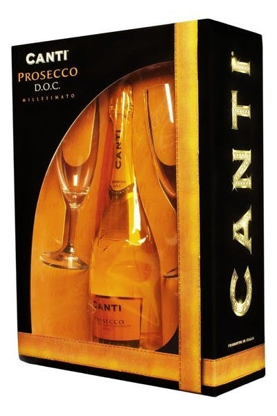 Canti Prosecco Gift Set With 2 Glasses