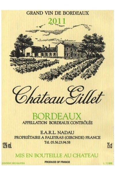 Chateau Gillet White Bordeaux