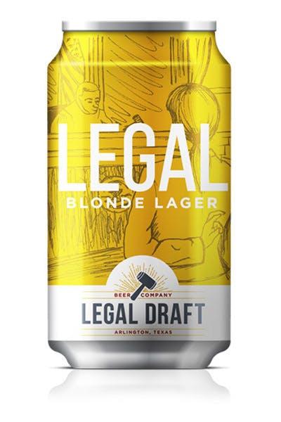 Legal Draft Blonde Lager