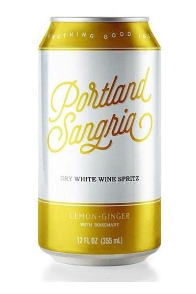 Portland Sangria Lemon Ginger Rosemary