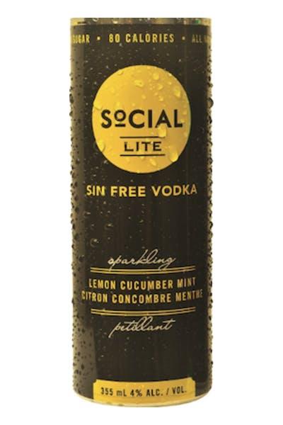 Social Lite Lemon Cucumber Mint