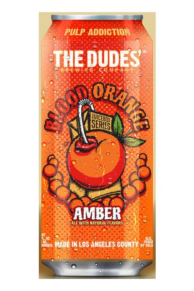The Dudes' Blood Orange Amber Ale