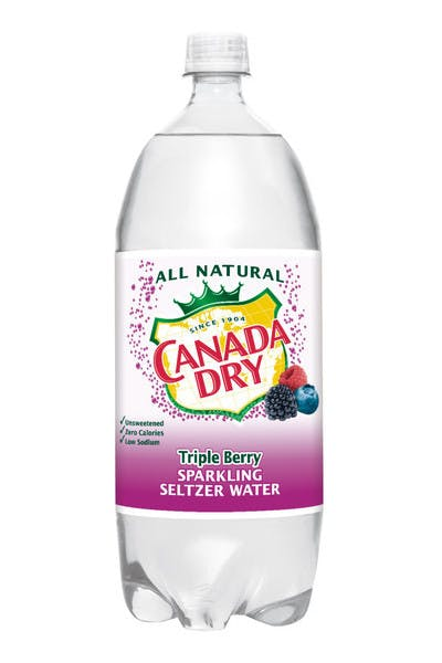 Canada Dry Triple Berry Seltzer Water