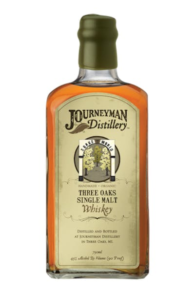 Journeyman Three Oaks Single Malt Whiskey